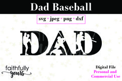 Dad with baseball cutouts, coach, father, sports baseball Product Image 2