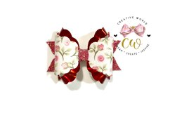 New 2021 Hair Bow Digital Template | Bow Template |CWC166 Product Image 2