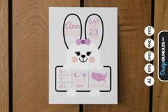 Birth Stat Cute Bunny Product Image 1