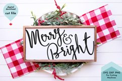 Merry and Bright Christmas SVG Cut File Product Image 1