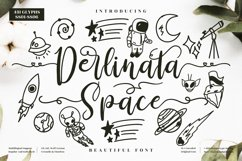 Derlinata Space - Beautiful Script Font Product Image 1