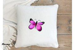 Purple Watercolour Butterflies Product Image 3