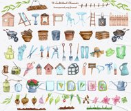 Gardening Watercolor Clipart Product Image 4