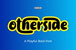 Other Side - A Playful Bold Font Product Image 1