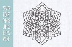 Mandala Flower SVG Product Image 1