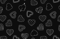 Hand drawn hearts + seamless pattern Product Image 6