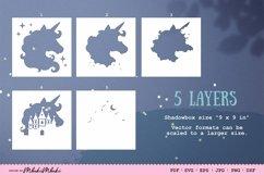 Unicorn 3D Shadow Box SVG Papercut Cutting File Product Image 2