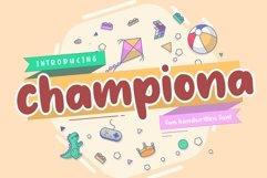 Championa Fun Handwritten Font Product Image 1