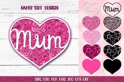 Mum SVG,3D Layered Mum,Mum Heart SVG,3D Mothers Day Papercut Product Image 1