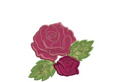 Two Roses Applique Design Product Image 4