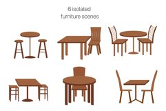 Modern Café Interiors vector illustration Product Image 2