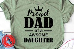 Proud Dad of a awsome daughter svg Father's day shirt Png Ai Product Image 2