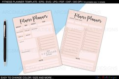 fitness planner template bundle Product Image 2
