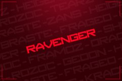RAVENGER EXCLUSIVE DISPLAY FONT Product Image 2