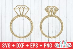 Wedding Rings SVG Cut File Product Image 1