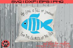Whimsical Fish Design - Longfellow Secrets of the Sea | SVG Product Image 1