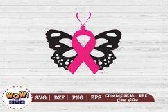 Butterfly svg, Breast Cancer svg, Cancer Awareness svg Product Image 2