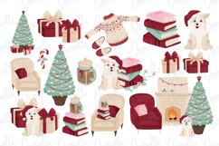 Cozy Christmas Watercolor Clipart Product Image 3