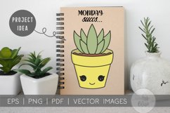 Succulent Pack | Vector succulents & Cactus Kawaii Images Product Image 3