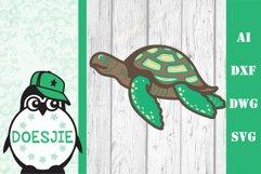 Layered Sea turtle multi layer mandala sea nautical 3d svg Product Image 2