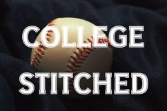 College Stitched Sport Font Product Image 1