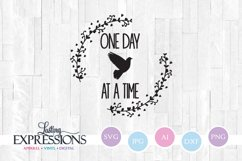 One Day at a Time Bird Design // SVG Quote Product Image 1