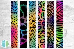 Rainbow Key Fob Wristlet Sublimation Bundle Leopard Product Image 2