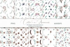 Cotton & Anemones Seamless Patterns Product Image 1