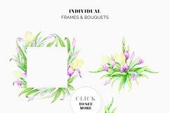 Irises. Watercolor Floral Set. Part2 Product Image 3