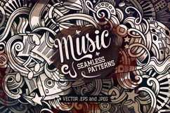 5 Music Doodles Graphics Patterns Product Image 1