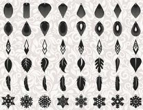 172 Earrings template SVG - Cut files - Leather earrings SVG Product Image 6