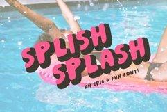 Splish Splash! | Playful Sans Serif Typeface Product Image 1