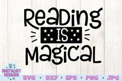 Teacher SVG   Reading is Magical SVG Product Image 2