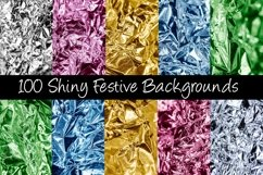 Shiny 100 Festive Foil Backgrounds by Squeeb Creative