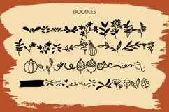 Beaver Moon Handwritten Fall Font With Doodles Product Image 3