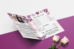 Floral Funeral Program MS Word & Photoshop Template Product Image 4