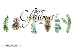 Christmas Set Winter Forest Watercolor Christmas Designs Product Image 2