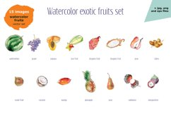 Watercolor exotic fruits Product Image 4