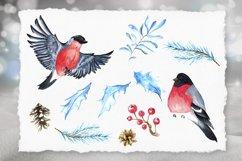 Watercolor winter clip arts. 40 elements, PNG 300dpi Product Image 2