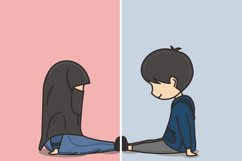 Muslim Hijab Character Vector Illustration Product Image 2