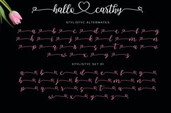 Hallo Carthy | A Lovely Calligraphy Font Product Image 3