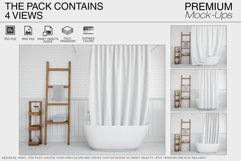 Bath Curtain Mockup Pack Product Image 5