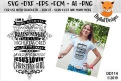 Christian Girl Religious Faith SVG Product Image 1