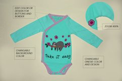 Long Sleeve baby bodysuit, onesie Mockup. Product Image 3