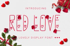 Redlove Font Product Image 1