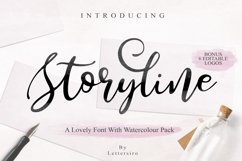 Storyline Font & Watercolour Pack Product Image 1