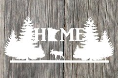 Minnesota HOME with moose and pine trees Product Image 1