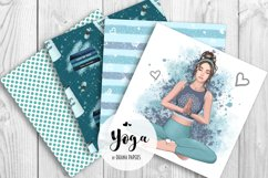 YOGA Digital Paper Pack - Pattern Fashion Illustration Product Image 3