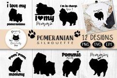 Pomeranian Spitz Dog Silhouette   Dog SVG Clipart Bundle Product Image 1