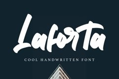 Web Font Laforta - Script Bold Fonts Product Image 1